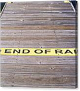 End Of Ramp Canvas Print