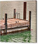 End Of Small Pier Canvas Print