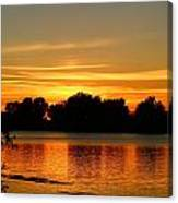 End Of Summer Sunset Canvas Print