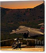 End Of The Day Departure Canvas Print