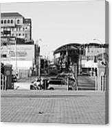 End Of The Line In Black And White Canvas Print