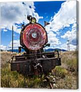End Of The Line - Steam Locomotive Canvas Print