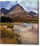 End Of The Road Mountain Canvas Print