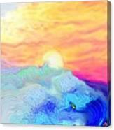 Endless Sea At Sunrise Canvas Print