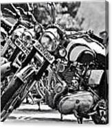 Enfield Motorcycles Canvas Print