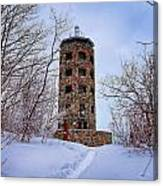 Enger Tower In Winter Canvas Print