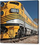 Engine 5771 In The Colorado Railroad Museum Canvas Print