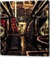 Engine Room Queen Mary 02 Sepia Canvas Print