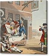 England, Illustration From Hogarth Canvas Print