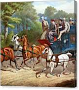 England Road Travel, 1880 Canvas Print
