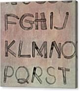 English Alphabet Music Sheets  Canvas Print