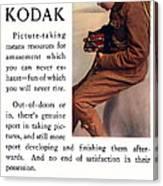 English Boy Scout. Circa 1913. Canvas Print