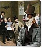 English Bulldog Art - The Latest News Canvas Print