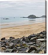 English Channel Beach Canvas Print