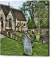 English Church Yard Canvas Print