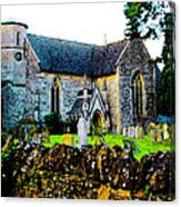 English Churchyard Canvas Print