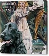 English Cocker Spaniel Art - A Streetcar Named Desire Canvas Print