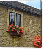 English Cottage Flower Box Canvas Print