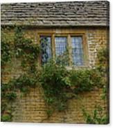 English Cottage Window Canvas Print