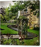 English Country Garden And Mansion - Series IIi. Canvas Print