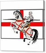 English Knight Lance Horse England Flag Side Retro Canvas Print