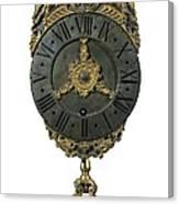 English Lantern Clock 18th C.. Baroque Canvas Print