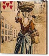 English Playing Card, C1754 Canvas Print