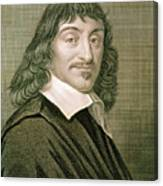 Engraving Of French Mathematician Rene Descartes Canvas Print