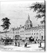 Engraving Of Salpetriere Hospital Canvas Print