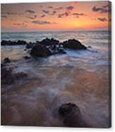 Engulfed By The Waves Canvas Print