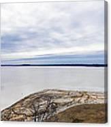 Enid Lake - Winter Landscape Canvas Print