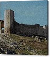 Enisala Fortress Canvas Canvas Print