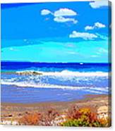 Enjoy The Blue Sea Canvas Print
