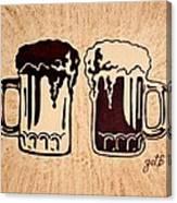 Enjoying Beer Canvas Print