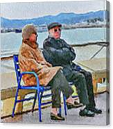 Enjoying Late Fall In Cannes Canvas Print