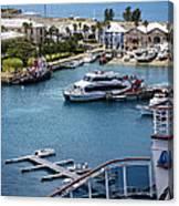 Enjoying The Harbor View Canvas Print
