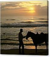 Enjoying The Sunrise Canvas Print