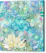 Enlightened Forest Heart 3 Canvas Print