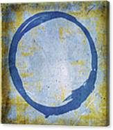 Enso No. 109 Blue On Blue Canvas Print