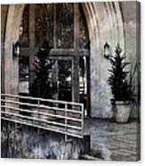 Enter Here -- Filtered Version Canvas Print