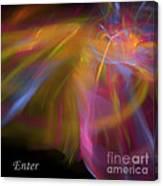 Enter Canvas Print