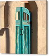Enter Turquoise Canvas Print