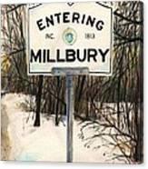 Entering Millbury Canvas Print