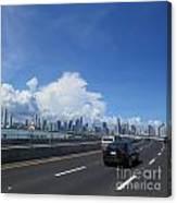 Entering Panama City In Panama Canvas Print