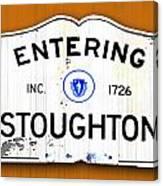 Entering Stoughton Canvas Print