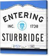 Entering Sturbridge Canvas Print