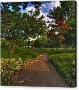 Entering The Japanese Garden Canvas Print