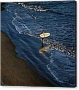Entering The Ocean. Canvas Print