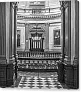 Entrance At Michigan State Capital  Canvas Print
