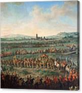 Entrance Of The Emperor Franz I Stephan And His Son Joseph II Into Frankfurt Canvas Print